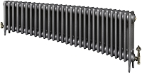 Eastgate Victoriana 3 Column 29 Section Cast Iron Radiator 450mm High x 1780mm Wide - Metallic Finish